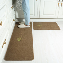 A generation of hair can be cut into the door, earthent, non-slip , kitchen carpet  mat Soft and water proof Modern simplicity