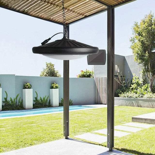 Lampe suspendue solaire 20LED rétro ampoule étanche extérieure jardin Yard fendu suspension avec interrupteur + dispositif de télécommande