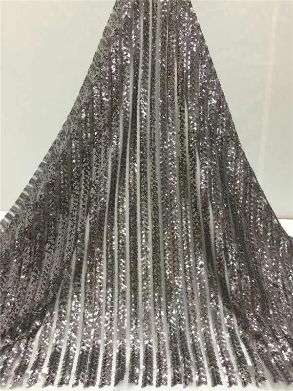5 ярдов Высокое качество блестящая кружевная ткань для шитья DIY женское Тюлевое кружевное платье дизайн африканская Свадебная вечеринка платье