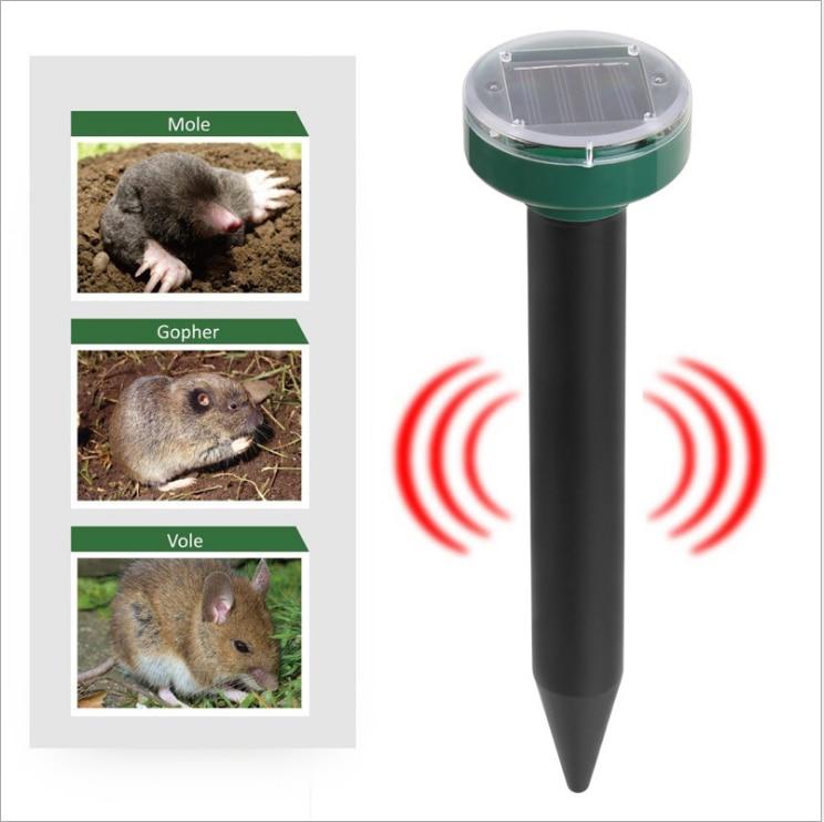 Repelente solar de pragas, ultrassônico para uso externo e controle de jardim e quintal contra toupeira, cobra, pássaro, mosquito, camundongo|Repelentes|   -