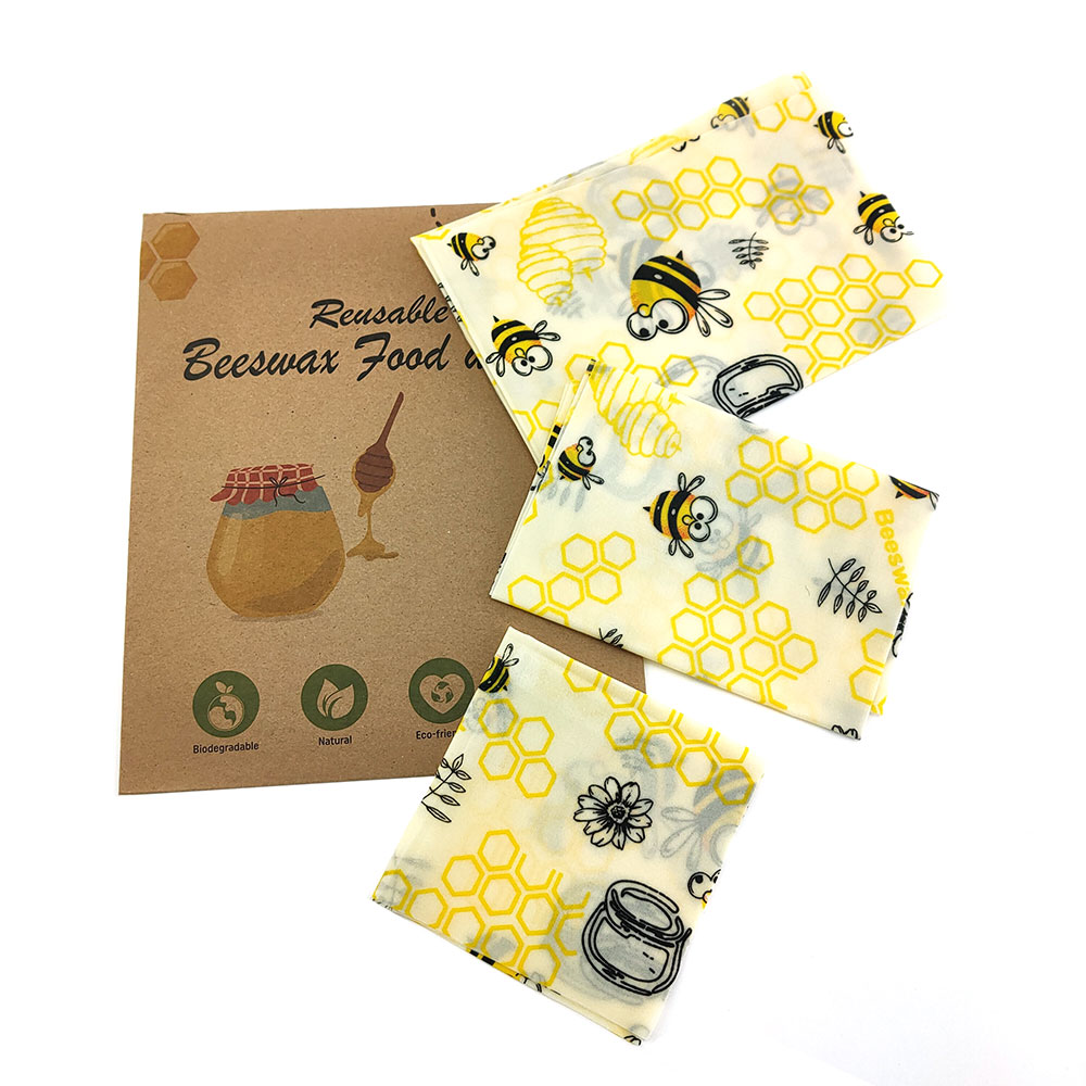 Zero Waste Beeswax Wrap Eco-Friendly Sustainable Organic Reusable Fresh-Keeping Food Wraps Foods Packaging For Sandwich