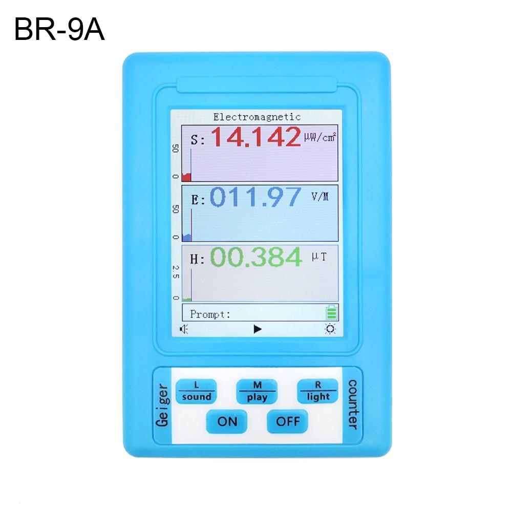 EMF Handheld Full Functional Radiation Nuclear Counter Geiger Series Display Electromagnetic BR Detector 9 Tester Type Digital