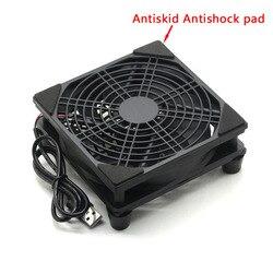 Wentylator routera DIY PC Cooler TV Box bezprzewodowe chłodzenie cichy cichy DC 5V 120mm wentylator W/śruby ochronne netto USB power wentylator chłodzący w Wentylatory i chłodzenie od Komputer i biuro na