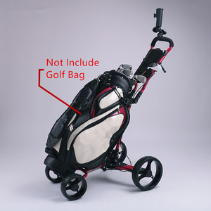 Image 2 - JayCreer chariot de Golf Portable pliable avec 4 roues, couleur noire, couleur aléatoire