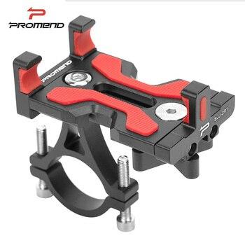Soporte giratorio para teléfono de bicicleta de aleación de aluminio Promend, soporte antideslizante para MTB de 4 a 6,4 pulgadas, soporte para teléfono móvil para bicicleta de carretera