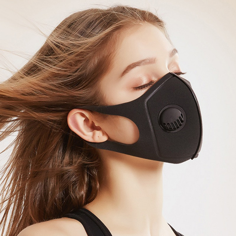 Virus Proof Cotton Mouth Mask with Activated Carbon Filters PM 2.5