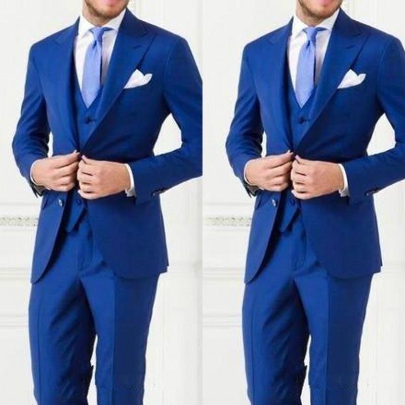 New Arrival Cheap Custom Made Men Suit Bestmen Groom Tuxedos Formal Suits Business Men Wear(Jacket+Pants+Vest)