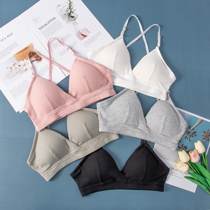 Sexy Women Bra Bralette Lingerie Push Up Bra Cotton Flexible Bra For Women Fashion Ins Bras Lady Tops Underwear Bralette Hot