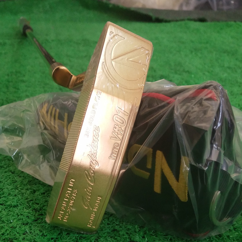 2019 NDORPHIN  24K GOLD PLATE  Inno V#1  Face  Japan Patent  Golf Putter  Forged CNC Putter