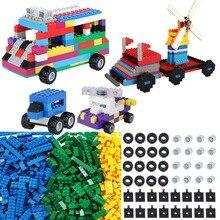 Classic Car Wheels Building Blocks Architecture Axles Complement Set Constructor Brick Accessories Educational Toys for Children
