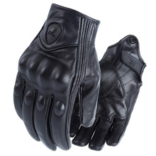 Leather Enduro Cycling Riding Gloves Motorcycle MTB Glove Outdoor Men