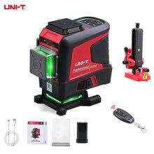 UNI-T nível de laser 3d12 linhas vertical horizontal verde nível de laser auto-nivelamento controle remoto indoor sem caixa de ferramentas