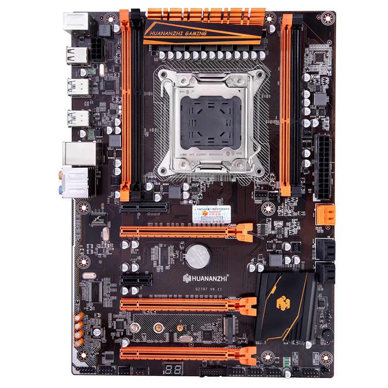 Descuento placa base HUANANZHI deluxe X79 Placa base con M.2 SSD para CPU Xeon E5 2640 V2 RAM 8G (2*4G) PC suministro de hardware