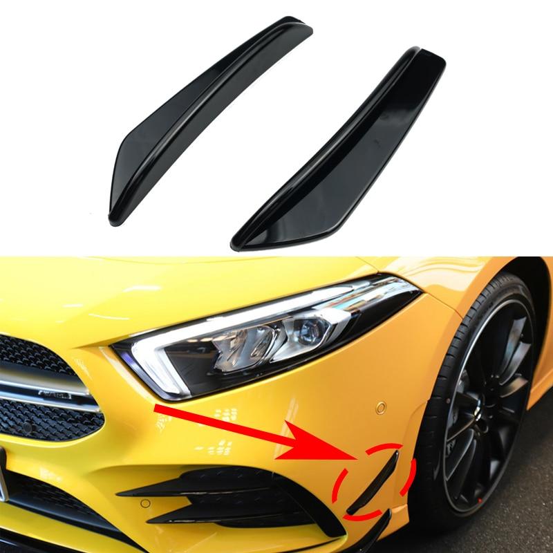 Parachoques delantero para coche, pegatina embellecedora, para Mercedes Benz Clase A W177 AMG A180 A200 A250 A35 2019 2020 +