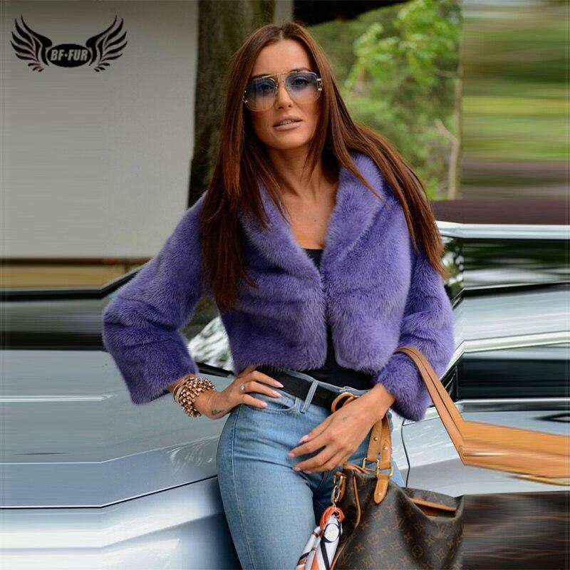 BFFUR, зимняя женская куртка из натурального меха норки, оптовая продажа, натуральная норковая шуба с воротником, роскошное пальто, короткое ш...