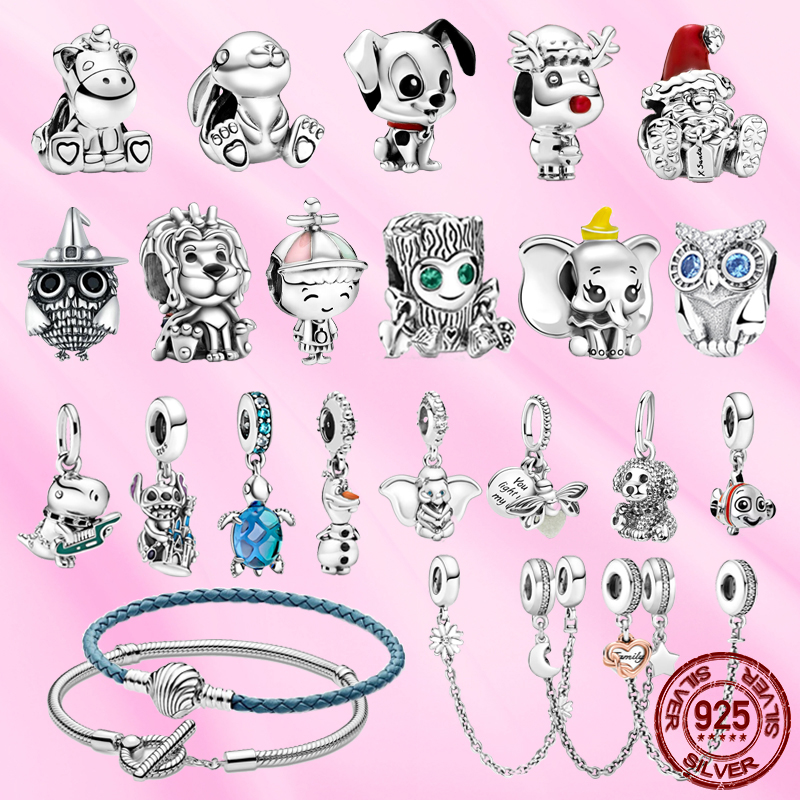 2021 new Sterling silver 925 fashion cartoon charm Pendant fit for original Pandora bracelet women DIY birthday gift  jewelry