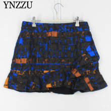 2019 Autumn New arrival Women mini skirt Jacquard ruffles Fashion Female skirts High street skirt Brand High quality YNZZU YB376(China)