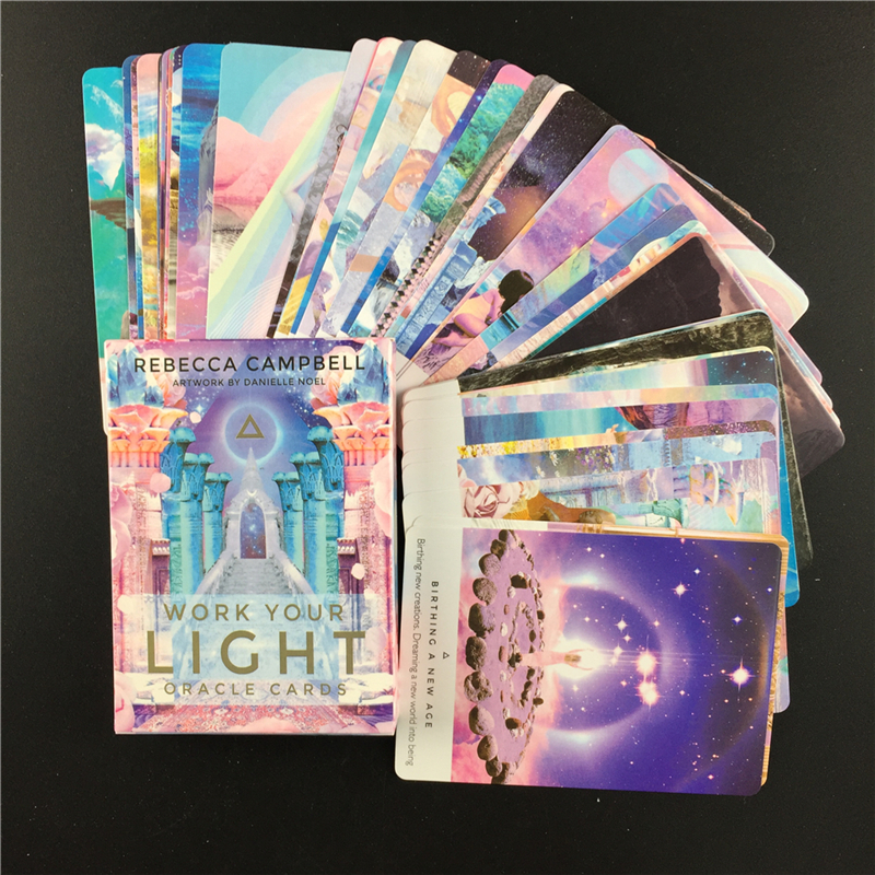 Work Your Light  Oracle   Cards 44 Beautiful Cards Tarot Deck Game Guidance Divination Reconnect With Your Soul