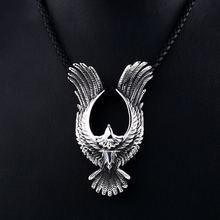 Viking титановая сталь aagle череп воин готический кулон мужское