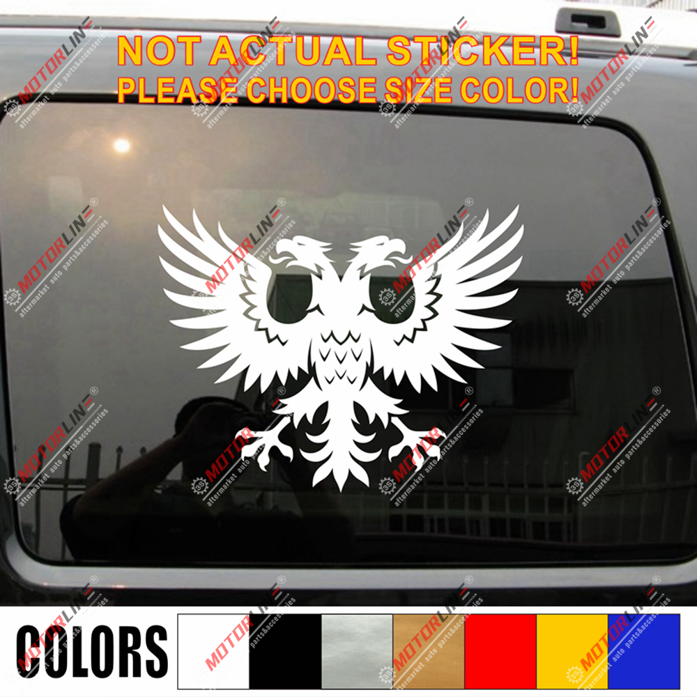 ***ALBANIA ALBANIAN VINYL FLAG DECAL STICKER***