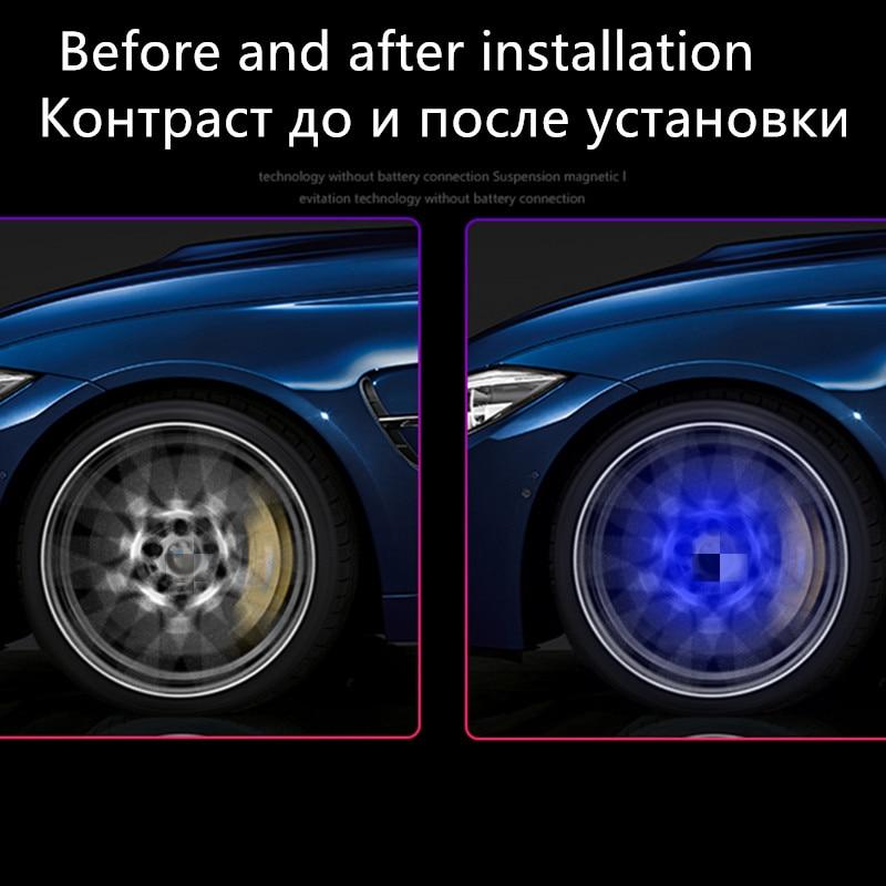 4pc Maglev LED Lamps Wheel Lamp Flash Wheel Tire Light Lamp Decoration for Honda