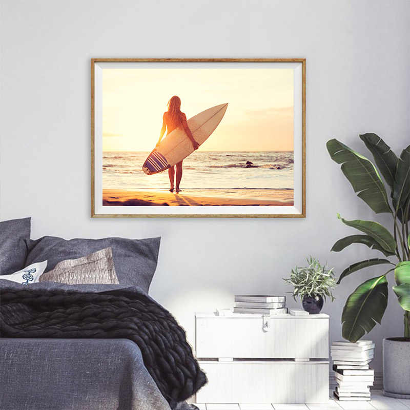 Nordic Style Modern California Beach Posters and Prints Sea Ocean Canvas Art Painting for Living Room Decoration No Frame
