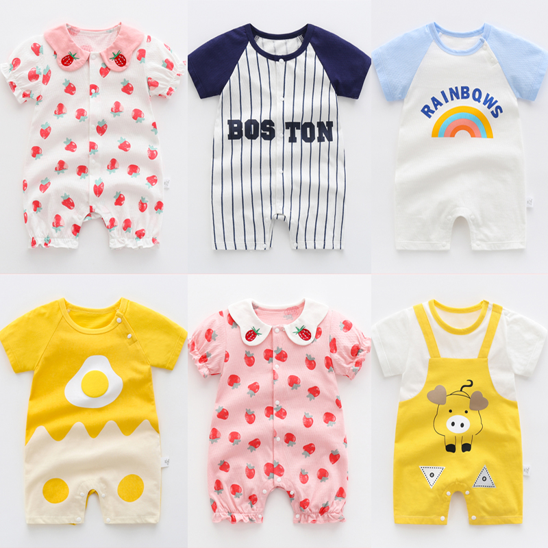 OLEKID 2021 Summer Baby Rompers Short Sleeve Catoon Fashion Cotton Baby Girls Clothes 0-3 Years Toddler Romper Newborn Clothes