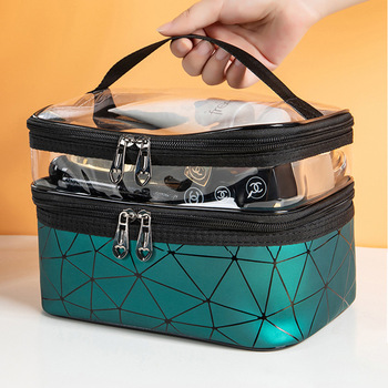 Multifunction Travel Clear Makeup Bag Fashion Diamond Cosmetic Bag Toiletries Organizer Waterproof Females Storage Make Up Cases 5