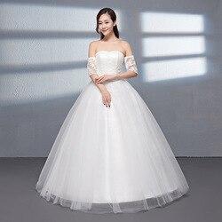 0586 nuevo estilo deconstruible manga a-line adelgazamiento hombro vestido de boda estudio joyería tienda Songke vestido de novia grande Si