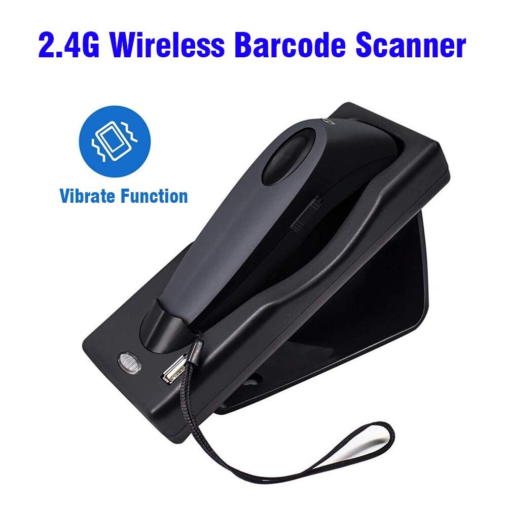 Barcode Scanner Dual 2.4G Handheld Wireless Bluetooth 1D 2D Barcode Scanner QR PDF417 Data Matrix UPC USB Bar Code Scanner