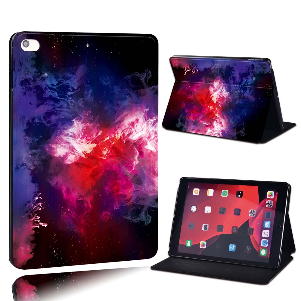 2.red nebula in sky White For Apple iPad 8 10 2 2020 8th 8 Generation A2428 A2429 PU Leather Tablet Stand