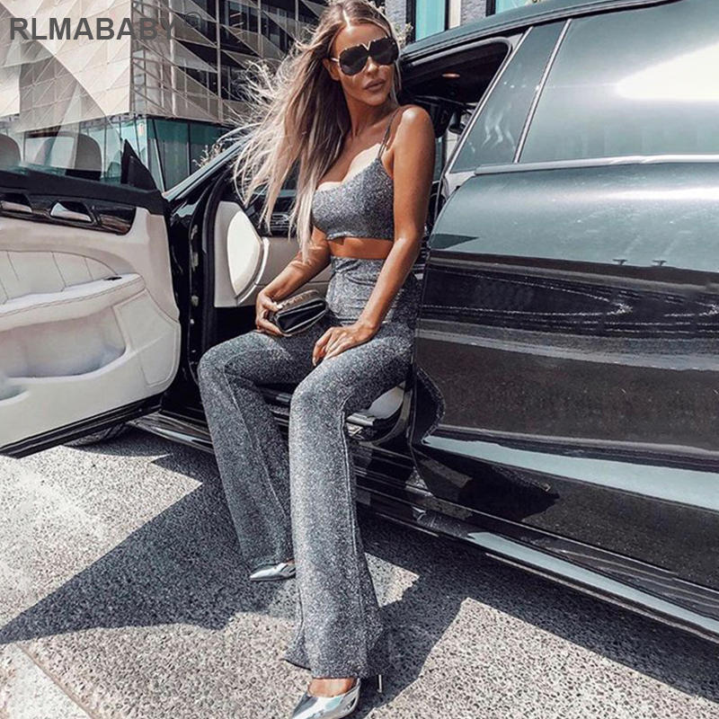 RLMABABY 2019 Autumn Winter Bright Silk High Waist Pants 7 Color Casual Streetwear Trousers Women Shiny Club Party Sexy Pants
