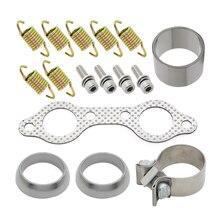 ATV Parts Exhaust Muffler Kit Gasket Seal Bolts Clamp Springs for Polaris RZR 800 4X4 EFI 2008 2009 2010 2011 UTV