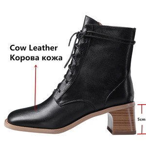 Image 3 - FEDONAS สบาย SheepSkin ผู้หญิงข้อเท้ารองเท้าบูทยี่ห้อฤดูหนาวสั้นอบอุ่นขนาดใหญ่พรรคหญิงสูงรองเท้าผู้หญิง