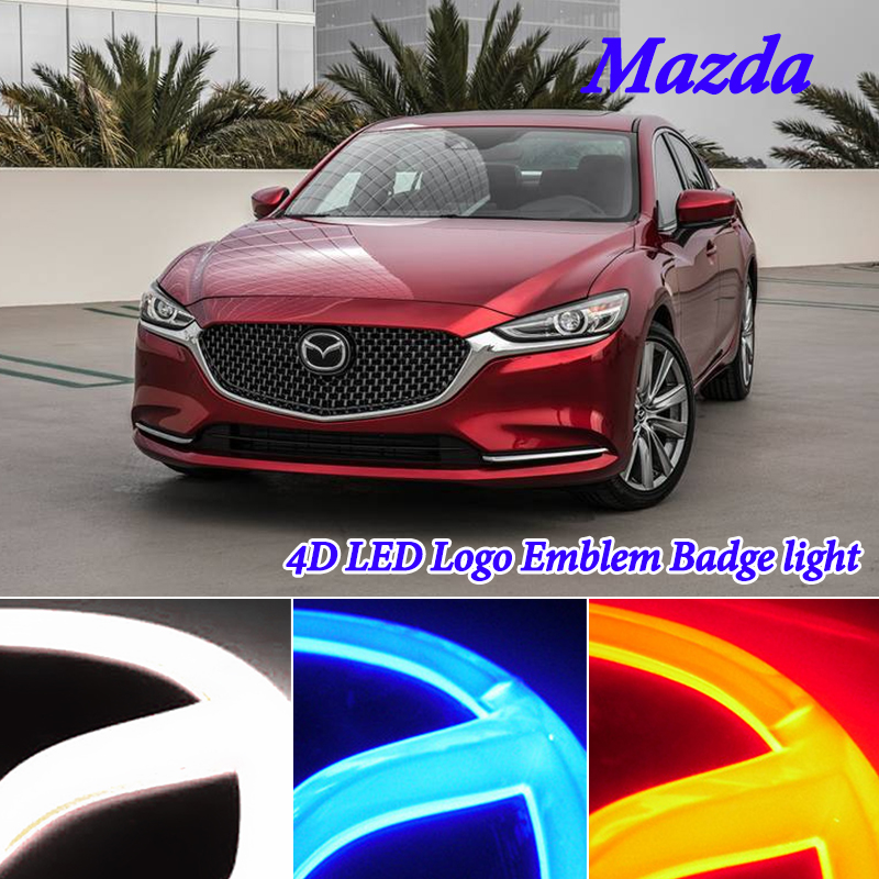 4D Car Styling led emblem Badge Logo Light for mazda 6 gg gh mazda 3 <font><b>bl</b></font> cx5 cx-6 cx-3 rx8 cx 7 LED Emblem Badge Logo Light image