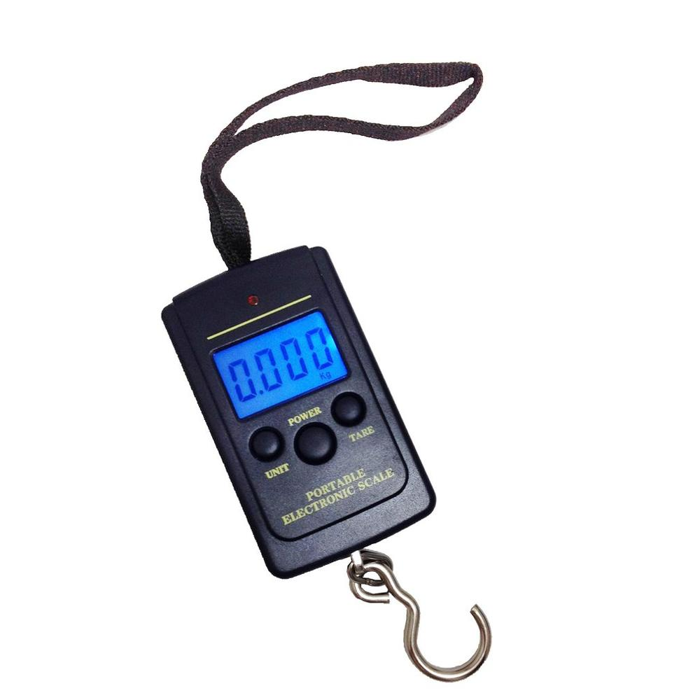 GY-004 40kg//10g Portable Electronic Hand Scale Electronic Weighing Electronic Luggage Scale Hook Scale Led Digital Display