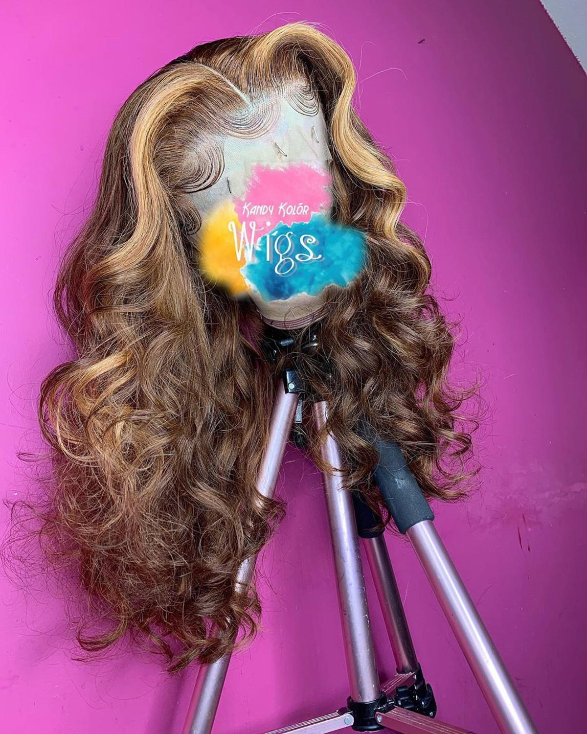Loose wave  Wig Front Lace Human Hair Wigs For Women Pre Plucked Human Hair Wig Natural Hairline LINMAN