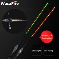 Inteligente Sensor de la gravedad de la pesca Float alarma mordedura de luz LED cambio de Color flotador de pesca electrónico Nano luminosas de noche de pesca flota