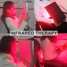 Panel de terapia de luz roja LED de calor para el cuidado de la piel, lámpara para aliviar el dolor, fisioterapia, masaje profesional, 45W