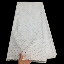 White lace fabric cotton swiss lace fabric high quality african nigerian lace fabric for dress 5 yards per lot