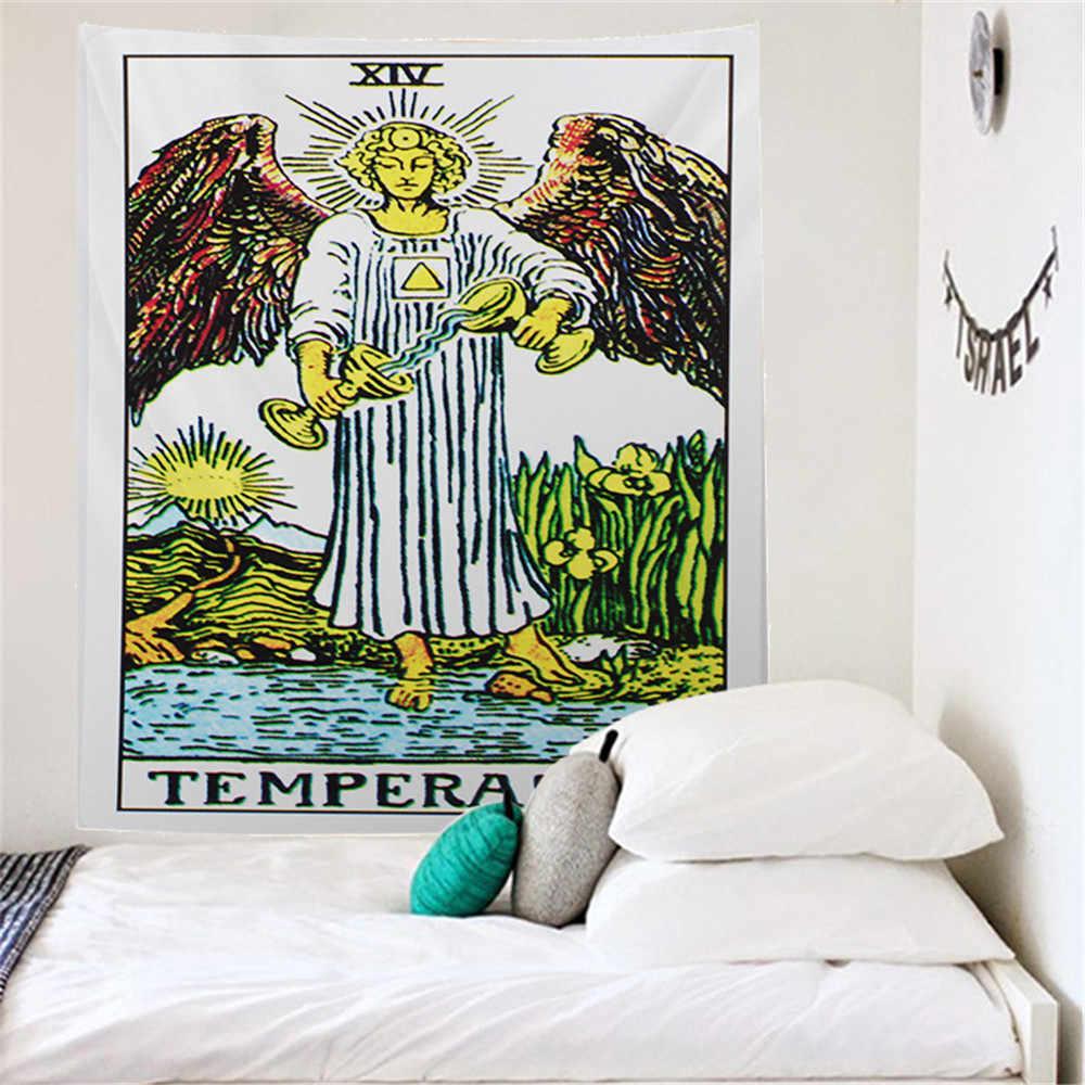 カラータロット星壁のタペストリー曼荼羅壁布ビーチタオルカーペット壁敷物 200 × 150 ボヘミアンタペストリー壁装飾