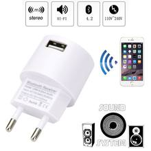 Receptor Bluetooth inalámbrico 3,5mm AUX Audio estéreo adaptador EU/US cargador USB para altavoz teléfono inteligente Tablet PC 634A(China)