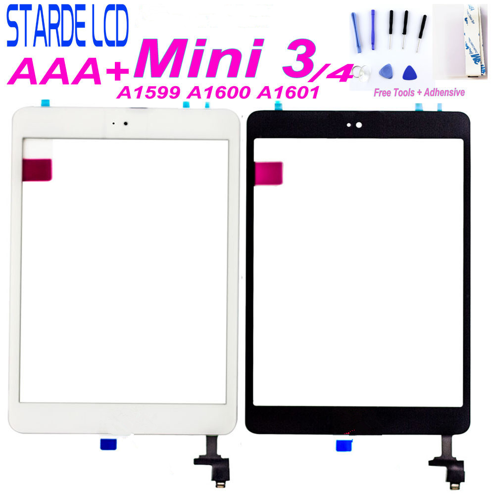 For iPad Mini 3 3rd Gen A1599 A1600 A1601 Black Touch Screen Digitizer IC Button