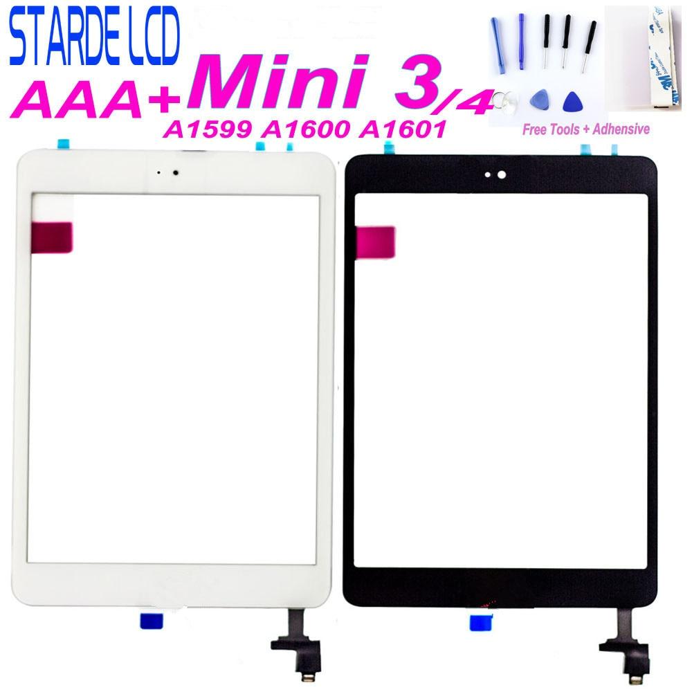 Для iPad mini 3 mini3 A1599 A1600 A1601 сенсорный для Ipad mini 4 mini4 A1538 A1550 сенсорный экран дигитайзер Главная Кнопка Бесплатные инструменты
