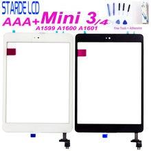 Botón de inicio para iPad mini 3 A1599 A1600 A1601, herramientas gratuitas para Ipad mini 4 mini4 A1538 A1550 Digitalizador de pantalla táctil