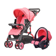 Luxurious Baby Stroller 2 in 1 Portable Travel Baby Carriage