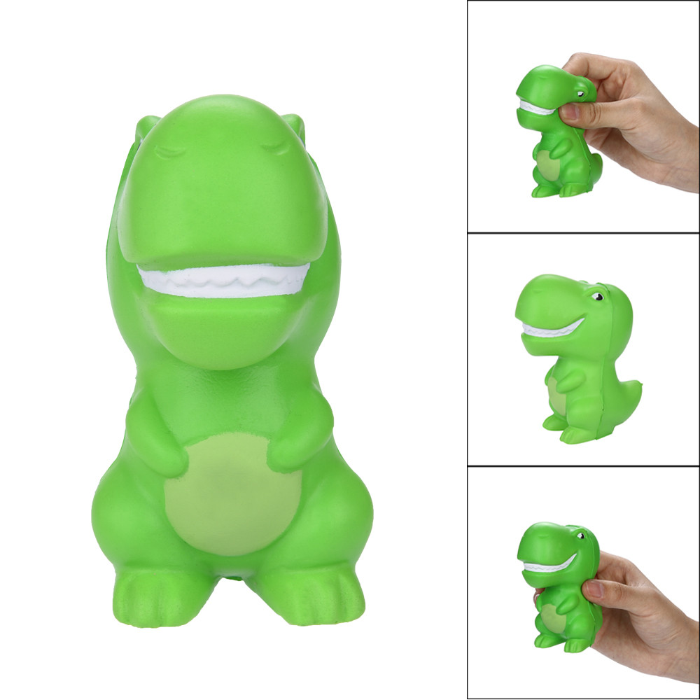 Squishy Green Dinosaur Anti-stress Toys For Children Squish Stress Relief Novelty Toys Fun Gags   Squeeze Toys Gifts L1216