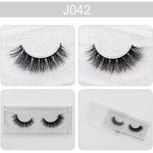 AMAOLASH False Eyelashes 3D Mink Lashes High Volume Reusable Luxury Handmade Eye Makeup Eyelash J037