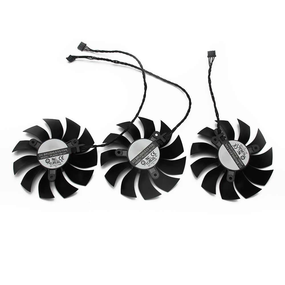 PLA09215B12H 12V 0.55A GTX1080TI FTW3 4Pin Para EVGA GTX 1080 Ti Preto ELITE Fã Placa Gráfica Ventilador de Refrigeração
