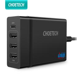 CHOETECH wielu ładowarka Usb USB C 72W 4 Port USB typu C PD ładowarka stacji typu C dla MacBook Pro iPad Pro iPhone XS MAX samsung
